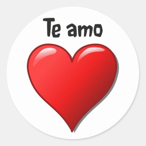 Te amo - I love you in Spanish Classic Round Sticker   Zazzle
