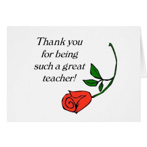 teacher thank you card  zazzle