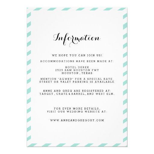 Information To Include In Wedding Invitations: 1,000+ Wedding Information Insert Invitations, Wedding