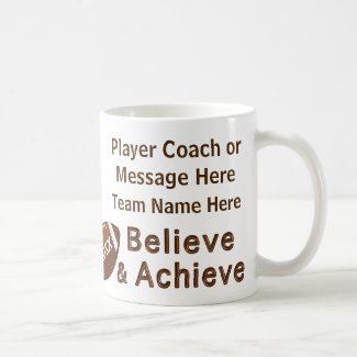 Team Photo and Your Text Football Gift Ideas Mugs