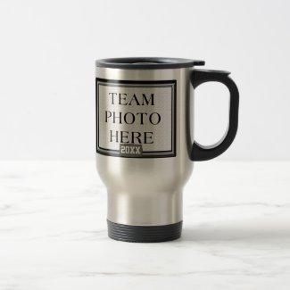 Team Photo Mug, Coach's Name Wrestling Coach Gifts 15 Oz Stainless Steel Travel Mug