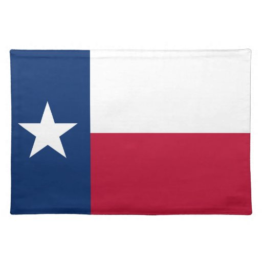 Teas flag placemat | Tean lone star state | Zazzle