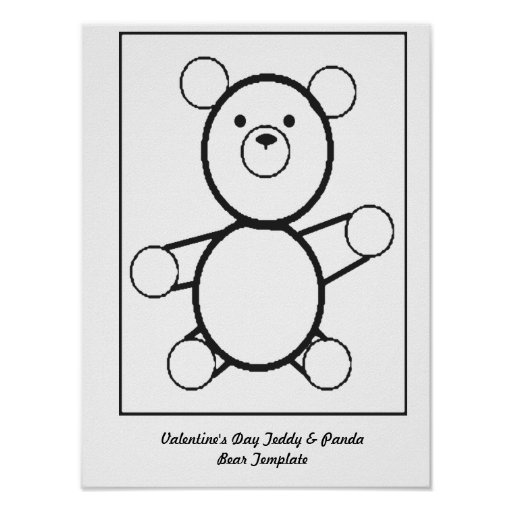 Teddy bear stencil cake ideas and designs for Panda bear cake template