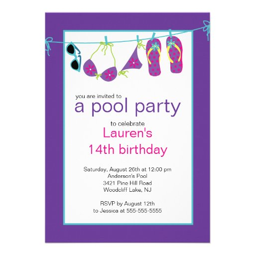 Teen Party Invitation 85