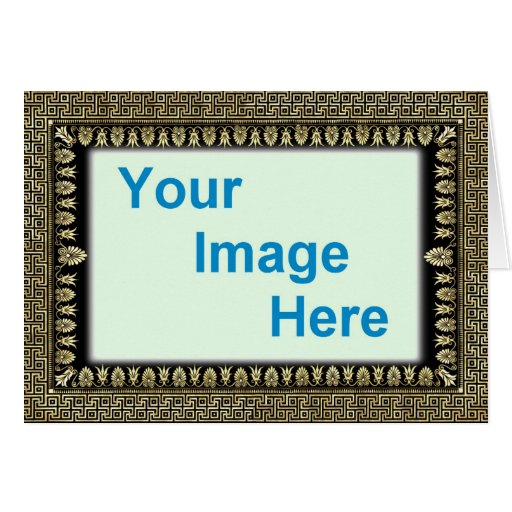 template  decorative colorful frame border greeting card