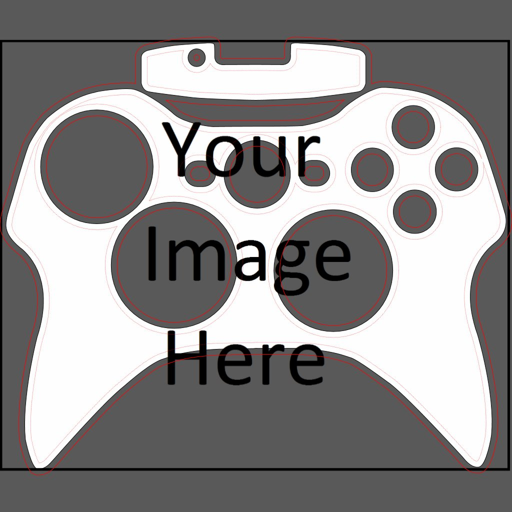 The gallery for xbox 360 controller template for Elit templates sticker
