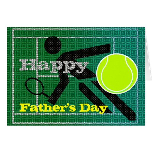 Coca Cola Gifts >> Tennis Dad Happy Father's Day Card | Zazzle