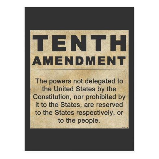 Tenth Amendment Postcard | Zazzle