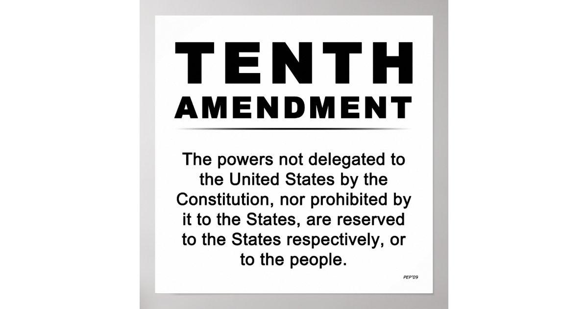 Tenth Amendment Poster | Zazzle