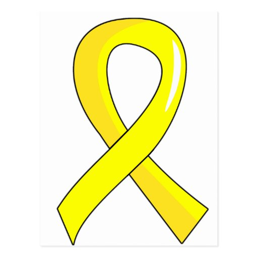 yellow ribbon coloring pages - photo #9