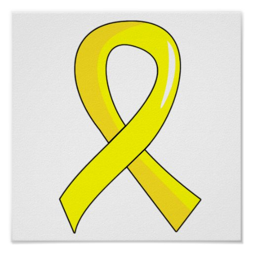 yellow ribbon coloring pages - photo #4