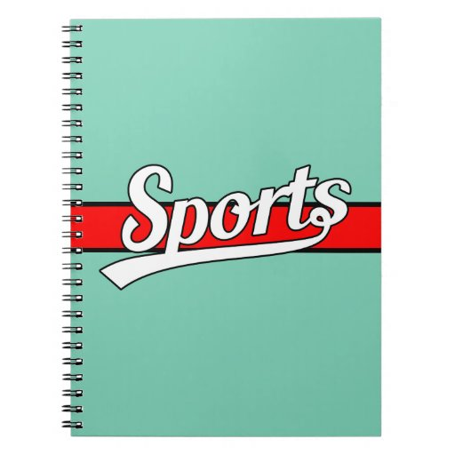 text notebook sports own notebooks