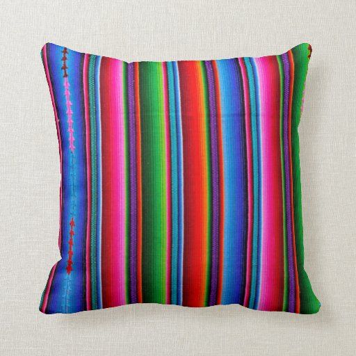 Texture of mexican fabric throw pillow zazzle - Fabric for throw pillows ...