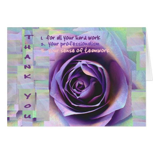 Thank You Quotes For Administrative Professionals Day: THANK YOU Administrative Professionals Day PURPLE Card