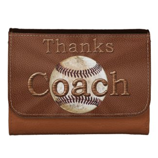 Thank You Baseball Coach Gift Ideas Leather Wallet
