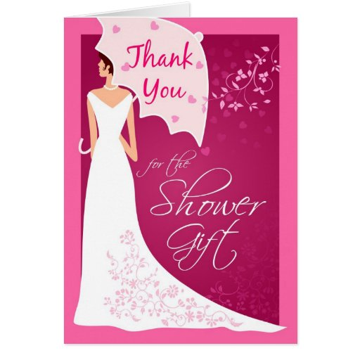 Wedding Gift Thank You Cards: Thank You - Bridal Shower Gift Thank You Cards