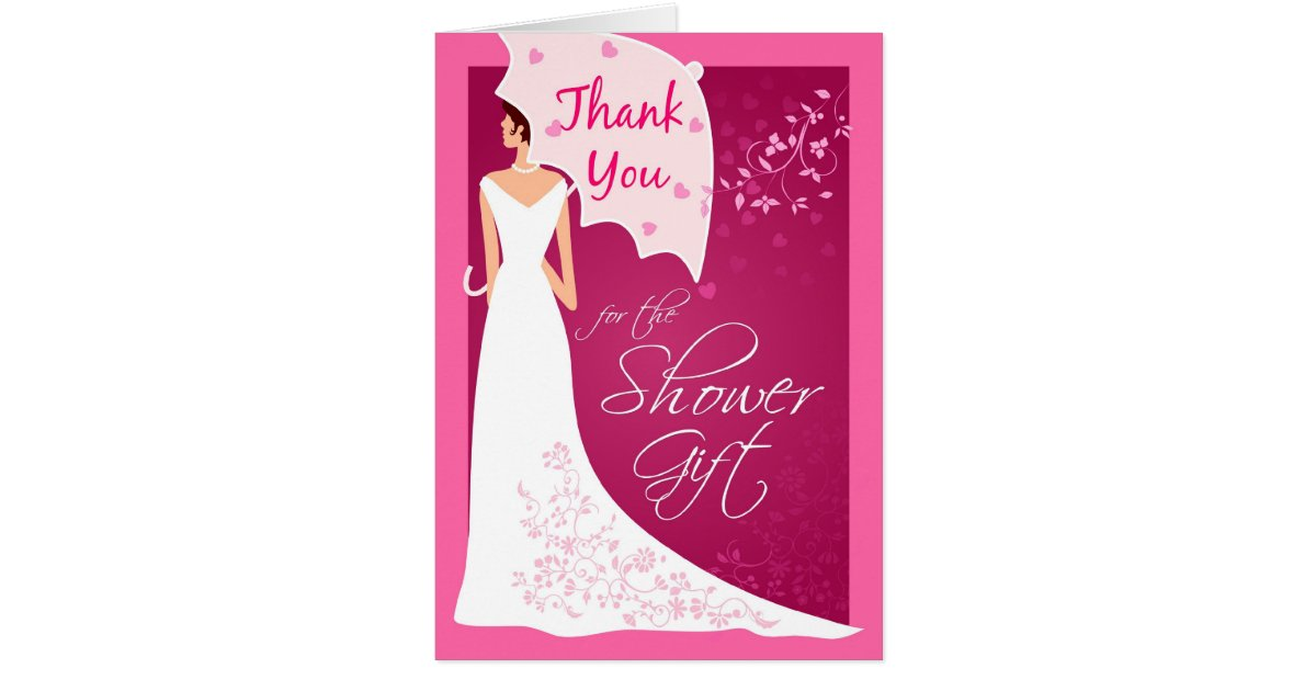 Wedding Shower Thank You Gifts: Thank You - Bridal Shower Gift Thank You Cards