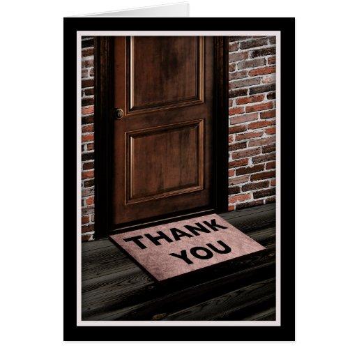 Thank You Door Mat Card Zazzle