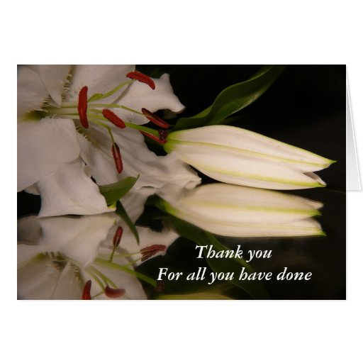 Thank you For all you have done Card | Zazzle