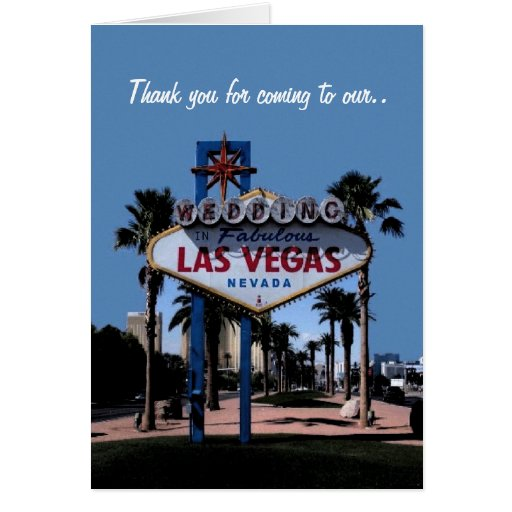Las Vegas Wedding Gifts: Thank You For Coming To Our Wedding Las Vegas Card