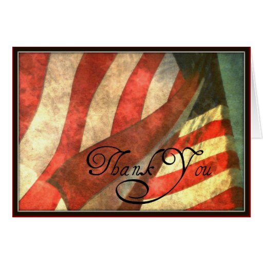 thank you for your service military greeting card  zazzle