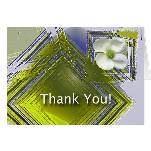 thank you great job floral design card  zazzle