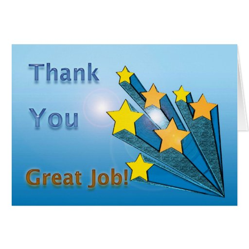 thank you great job shooting stars greeting cards  zazzle