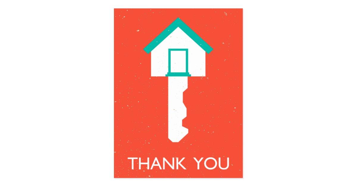 Thank You House: Thank You Housekey Postcard