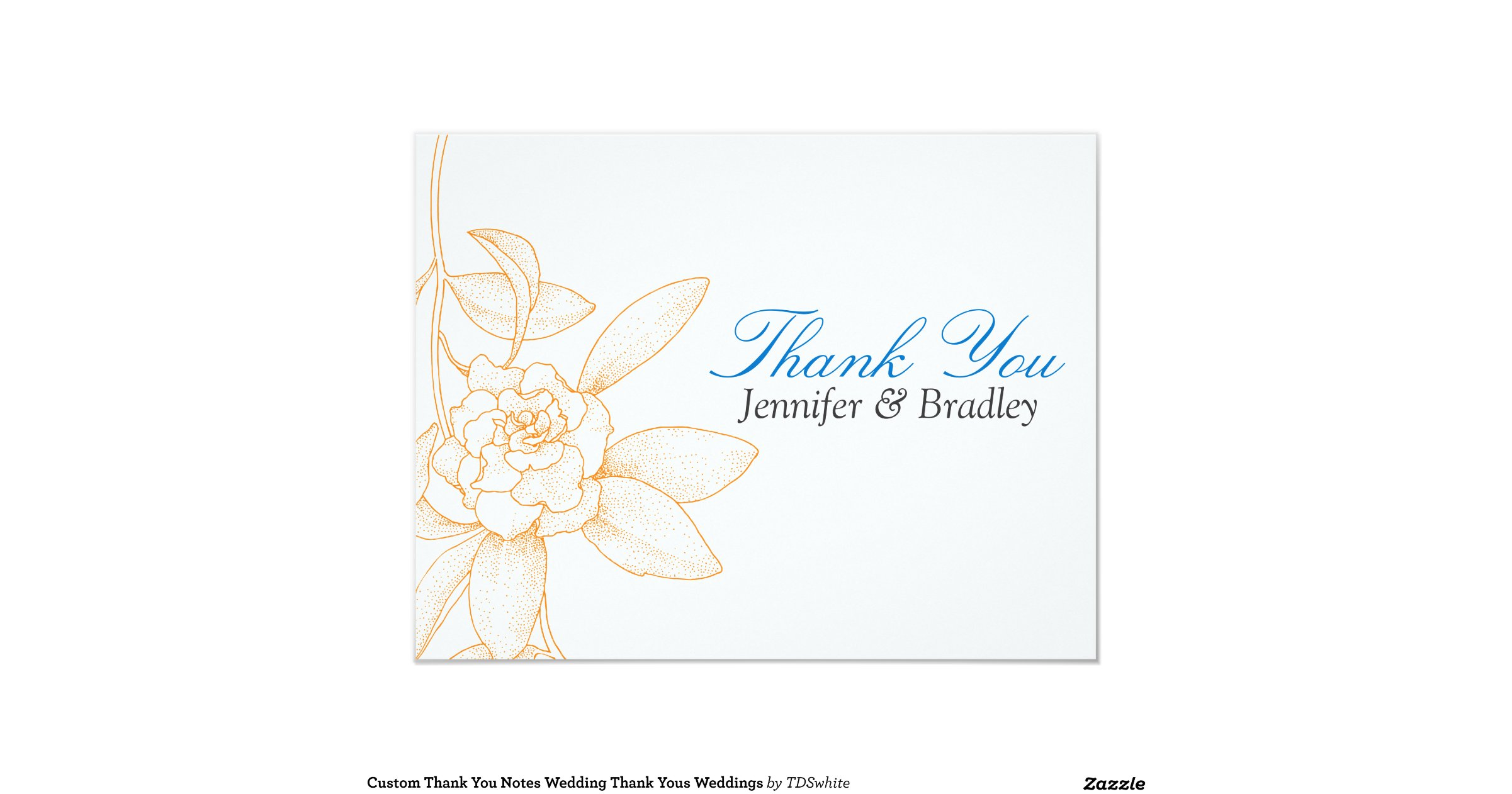 After Wedding Thank You Messages: Thank You Notes After The Wedding 4.25x5.5 Paper