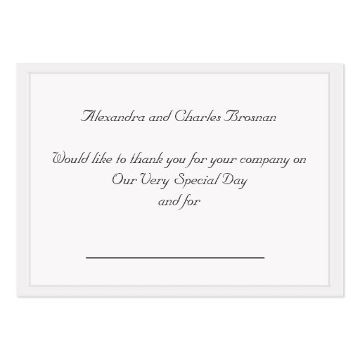 thank you wedding gift large business cards pack of 100