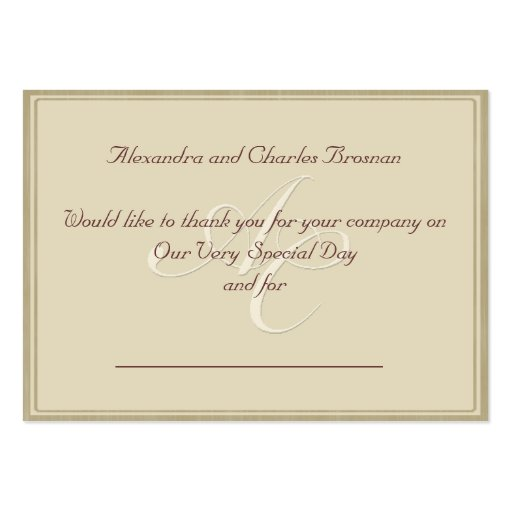 Thank You For Wedding Gift: Thank You Wedding Gift Large Business Cards (Pack Of 100