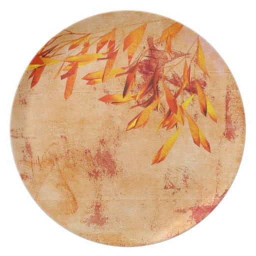 thanksgiving autumn dinner plate.   Zazzle