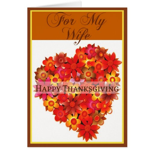 Thanksgiving Card for Wife | Zazzle