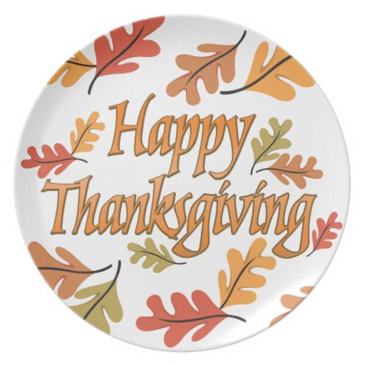 Thanksgiving Dishes Dinner Plates   Zazzle