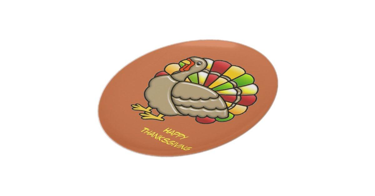 Thanksgiving Turkey Dinner Plate   Zazzle