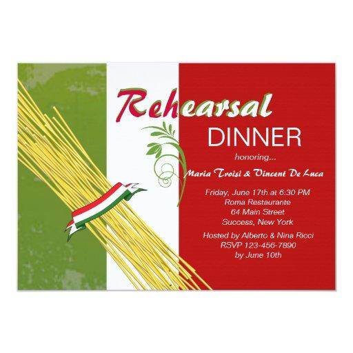 Dinner Party Invitations: That's Italian Rehearsal Dinner Party Invitation