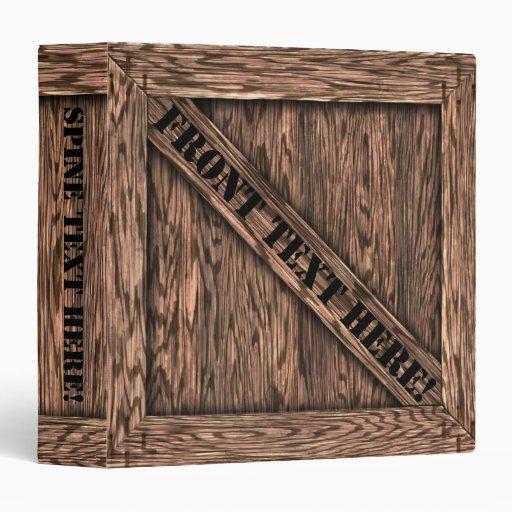 That's Just Crate! - Oak Wood - 3 Ring Binders