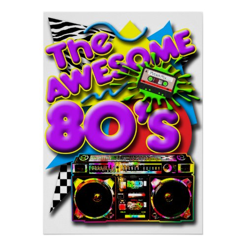 The Awesome 80's Poster