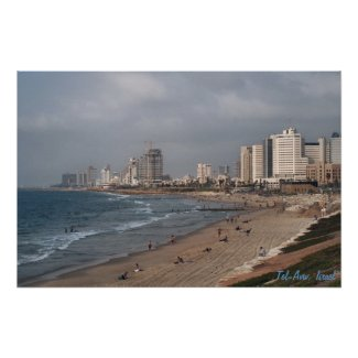 The beach in Tel Aviv Posters