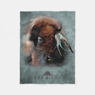 The Bison - Fleece Blanket