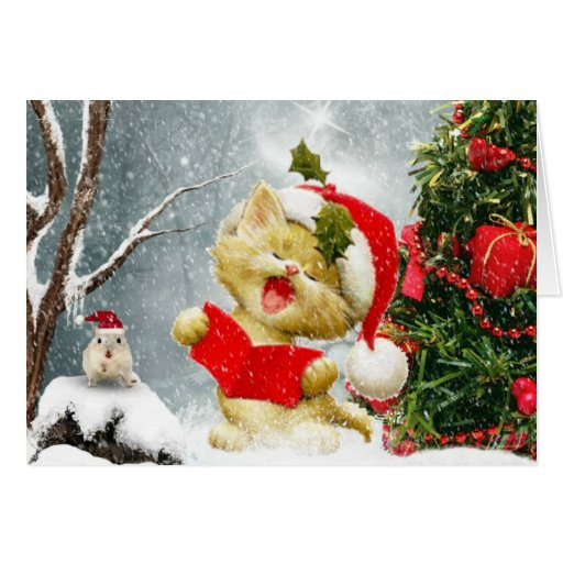 The Carol Singers Christmas Card