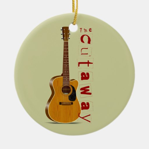 The Cutaway Acoustic Guitar Christmas Tree Ornaments | Zazzle