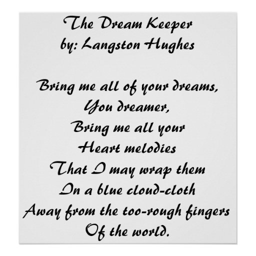 Short Sweet I Love You Quotes: The Dream Keeper Poster