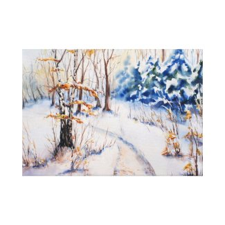 The first snow gallery wrapped canvas
