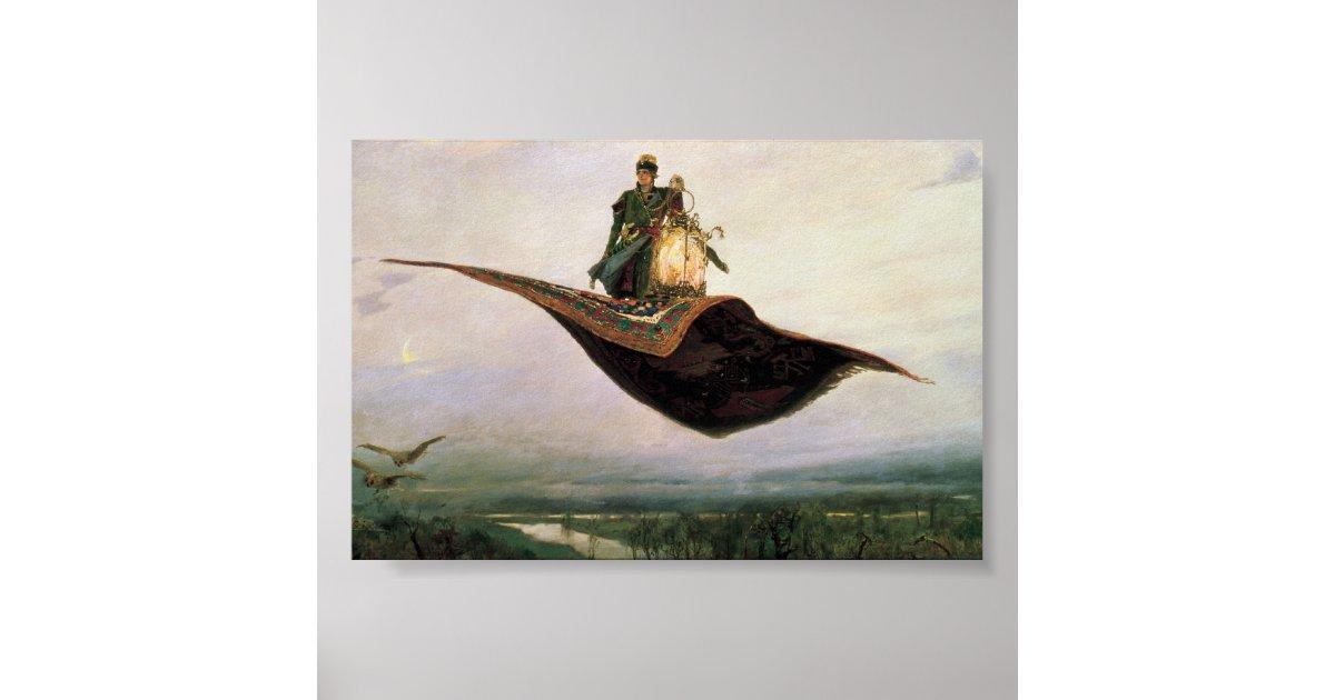 The Flying Carpet By Viktor Vasnetsov 1880 Poster Zazzle
