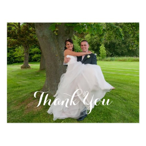 Wedding Gift Thank You Cards: The Happy Couple Wedding Gift Thank You Postcard