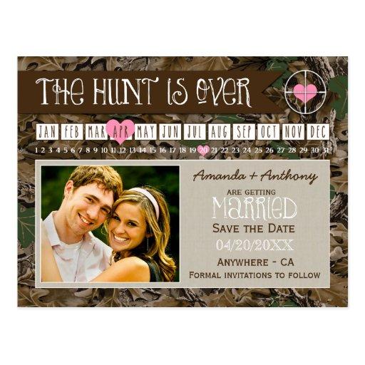 The Hunt Camo Calendar Photo Save The Date Cards