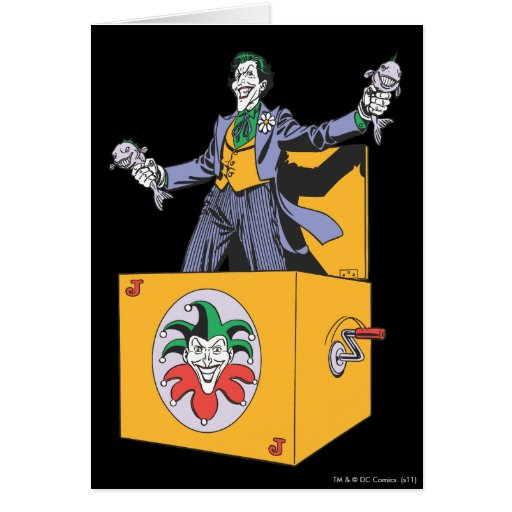the joker out of the box card  zazzle