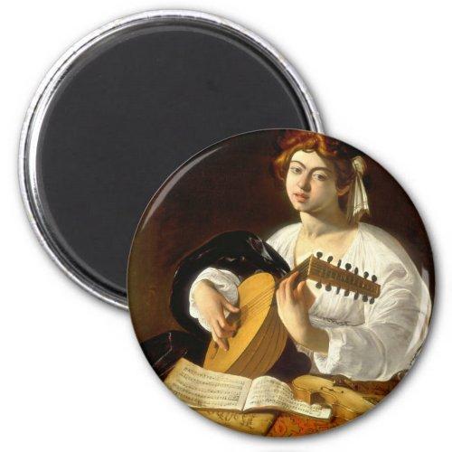 Italian Baroque Master Caravaggio The Lute Player 2-inch Round Magnet