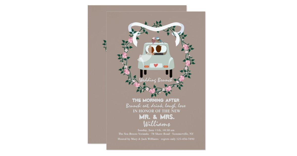 Post Wedding Brunch Invitation Wording: The Newlyweds Post Wedding Brunch Invitation